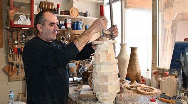 Ahşaptan yaptığı ürünlere Bulgaristan'da yoğun talep