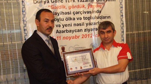 Azerbaycan Milletvekili Adayı GOŞALI'ya Başarılar