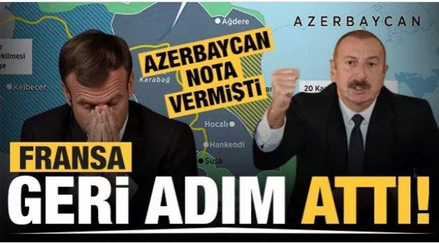Azerbaycan'dan Fransa'ya nota! Geri adım attılar!