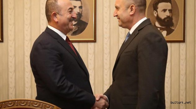 Çavuşoğlu, Bulgaristan Cumhurbaşkanı Radev tarafından kabul edildi
