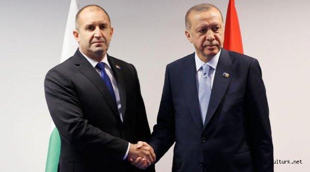 Cumhurbaşkanı Erdoğan Bulgaristan Cumhurbaşkanı ile görüştü
