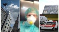 Viyana'da ön safta çalışan bir Bulgar hemşire Martina Bjanov